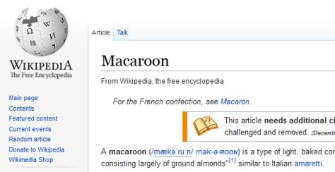Wikipedia Macaroon