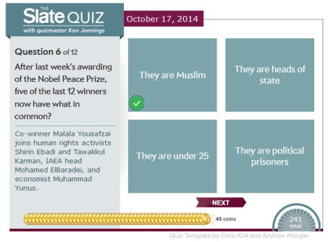 Slate quiz