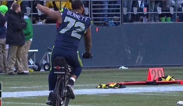 How did Michael Bennett explain his bike-thievery anyway?